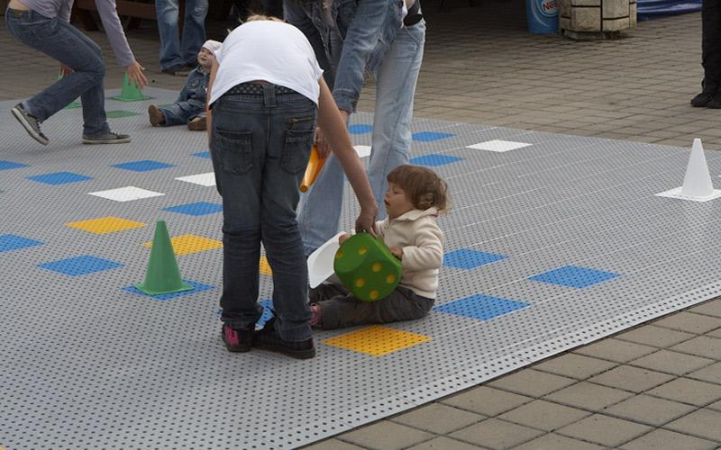 plastic floor giant ludo