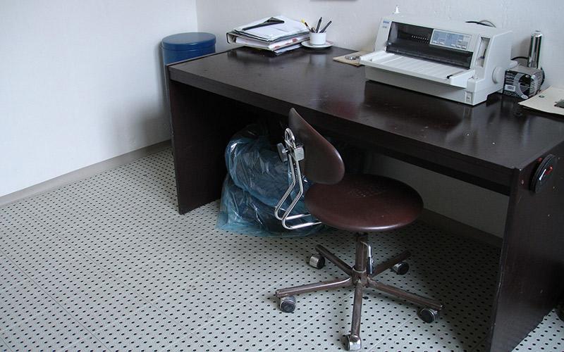 plastic floor office