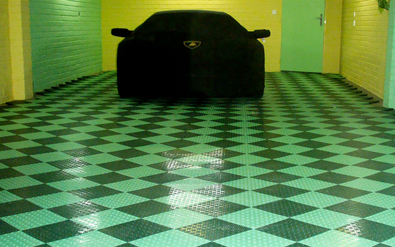 plastic floor garage