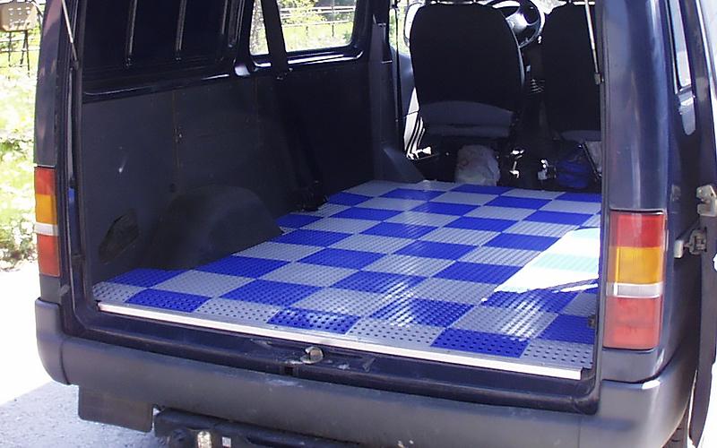 plastic floor cargo space