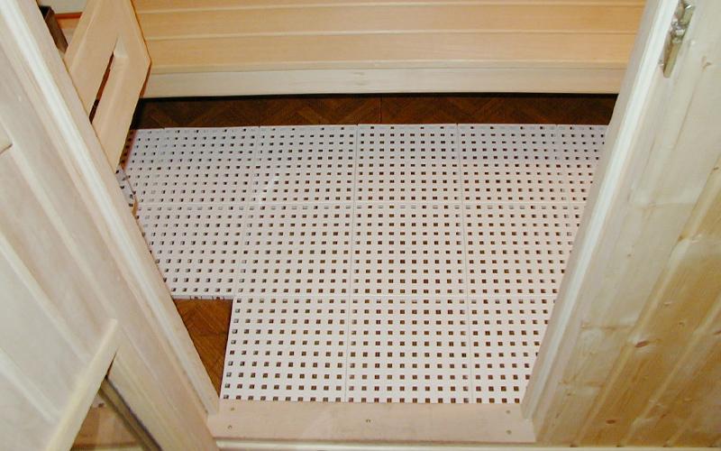 plastic floor sauna