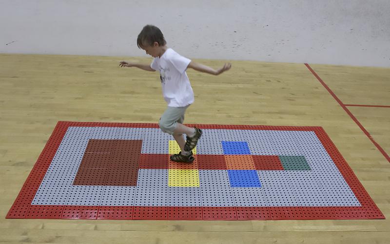 plastic floor sport surface