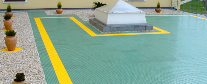 plastic floor terace