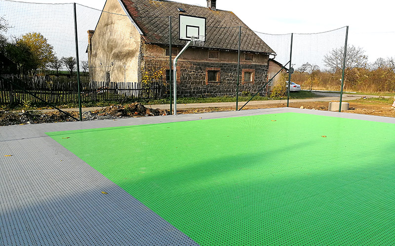 plastic sports floor